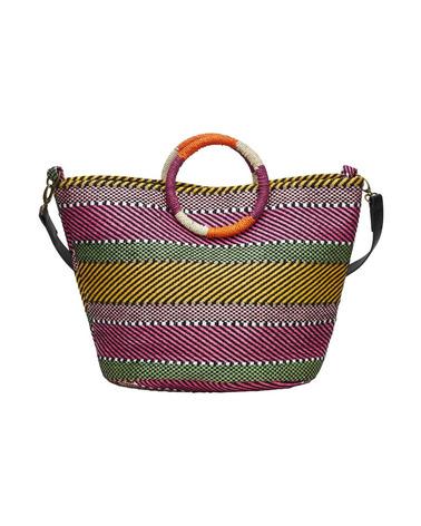 Nümph NuAlienta Shopper. Frisk og rummelig taske fra Nümph. Sprælske farver og et legende udtryk. Perfekt til strandturen