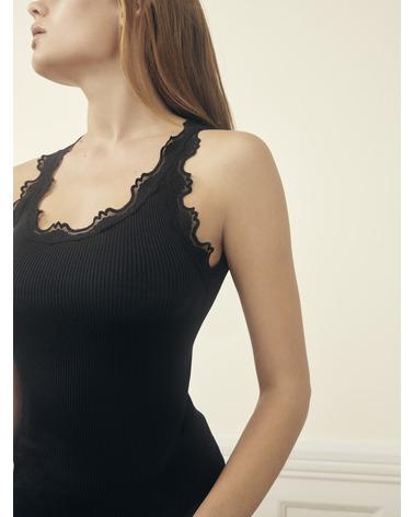 Klassisk Rosemunde Silk Top 5205 i sort