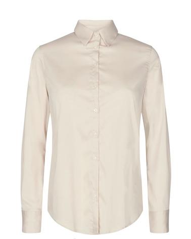 Bæredygtig Mos Mosh MARTINA Sustainable Shirt i ecru nuance