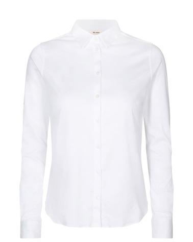 Mos Mosh Tina Jersey Shirt I hvid i 100% bomuld
