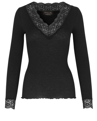 Rosemunde Wool t-shirt ls lace 4579