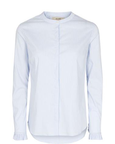Mos Mosh Mattie Stripe Shirt med elegante flæsedetaljer
