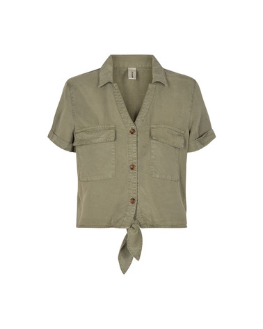 Soyaconcept Gossip 7 Skjorte med smart binde-detalje foran