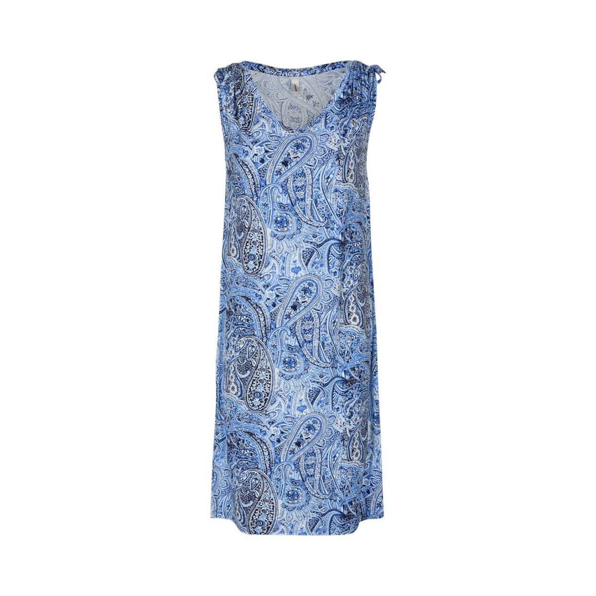 Dejlig blød og lækker lyocell-kjole Marica 97 fra Soyaconcept. Her i smuk blåt paisley-print