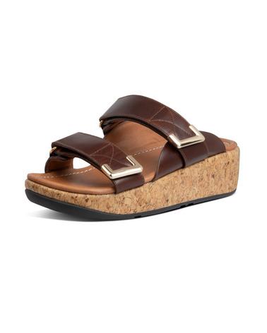 Lækre FitFlop Adjust Slide sandaler med masser af komfort. Sandaler med plateau-sål og microwoobleboard mellemsål