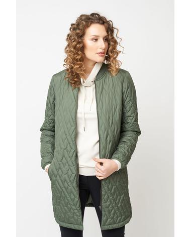 Let quiltet overgangsjakke Fenya 10 i flot army grøn farve fra danske Soyaconcept
