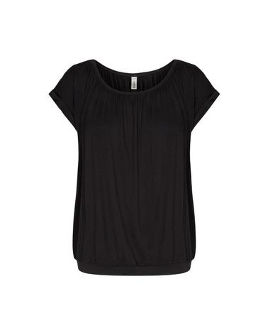 Sort Soyaconcept Marica 4 T-shirt i bæredygtig lyocell