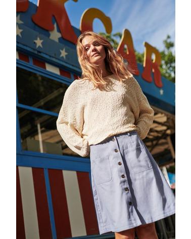 Super fin nederdel fra Nümph. NuBelladonna Nederdel i flot airy blue her på model