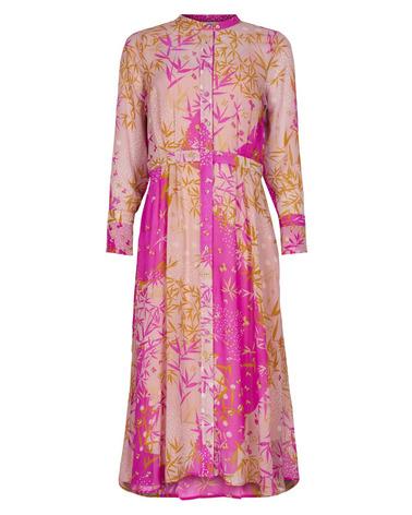 Flot maxikjole i flot pink nuance med guld og glimmer-detaljer. Nümph Kyndall Dress