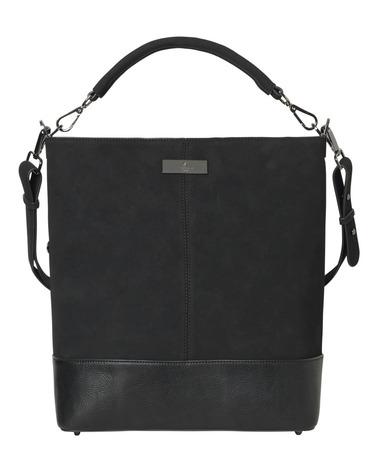 God og praktisk stor taske med plads til masser af ting. Rosemunde Bag B0246 her i sort med oxiderede detaljer