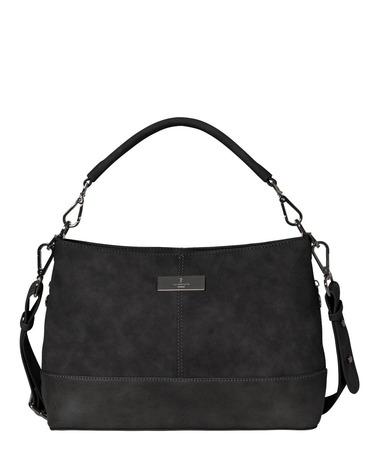 Smart dametaske i et ruskinds- og læder-look. Rosemunde Bag Medium B0247 i klassisk sort