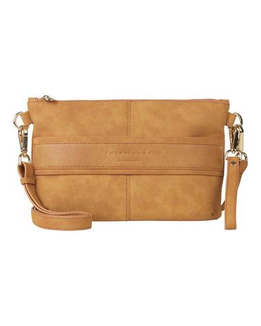 Skøn clutch eller taske med multifunktion. Her i mustard. Rosemunde Clutch B0264