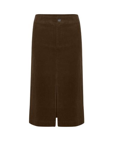 Flot fløjlsnederdel i brun nuance. Part Two Eike Nederdel