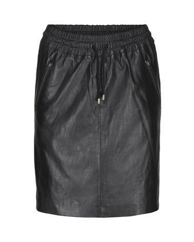 BTFCPH Loose Skirt. Lækker lædernederdel fra BTFCPH med elastik og bindebånd.