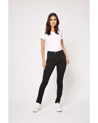 Lækre bukser, som er en blanding af jeans og leggins - altså jeggins. Soyaconcept Lilly 1-B Bukser i klassisk sort