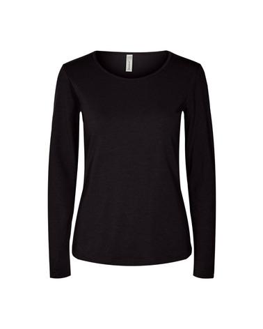 Basis-bluse med lange ærmer og rund hals. Soyaconcept Pylle 2 Bluse