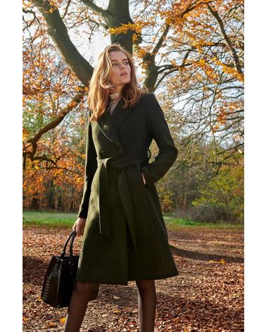 Rosemunde Lima Bag Medium B0261 er en flot mellemstor shopper i imiteret krokodille-skind i flot oliven grøn nuance