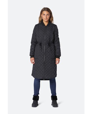 Ilse Jacobsen Art08 Jakke. Lækker overgangsjakke med snørebånd i livet. Ekstra længde bagtil for at holde dig varm.