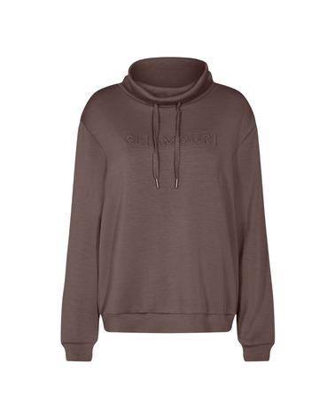 Soyaconcept Banu 8 Sweatshirt. Blød sweatshirt fra Soyaconcept i farven Dark Brown. Her ses Banu 8 i brun forfra.