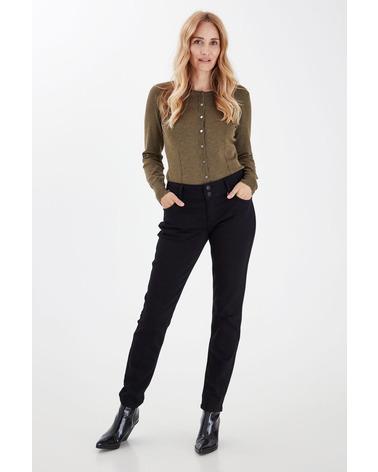 Pulz Suzy Jeans Stay Back i farven sort. Her ses Suzy Jeans på model.