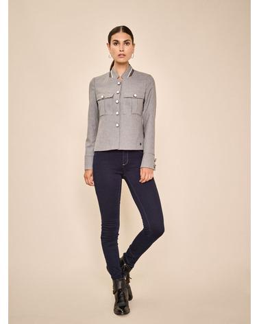 Mos Mosh Selby Hanni Jacket. Super smuk jakke fra Mos Mosh i farven Wet Weather. Her set på model.